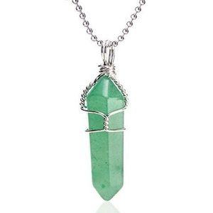 Green Aventurine wire wrap pendant